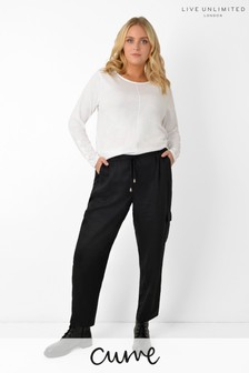 Live Unlimited Curve Black TENCEL™ Trousers