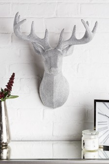 Diamanté Effect Stag Head