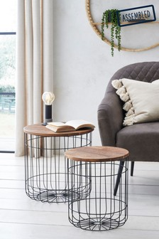 Basket Nest Of 2 Tables