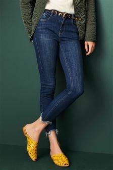 Distressed Hem Skinny Jeans
