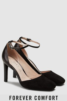 Leather Forever Comfort Asymmetric Cut Two Part Shoes