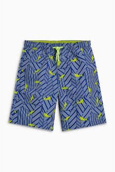 Shark Print Shorts (3-16yrs)