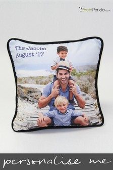Personalised 12x12'' Piped Double Sided Photo Cushion by Photo Panda