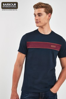Barbour® International Navy Magna Block T-Shirt