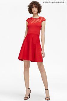 Красное расклешенное платье French Connection