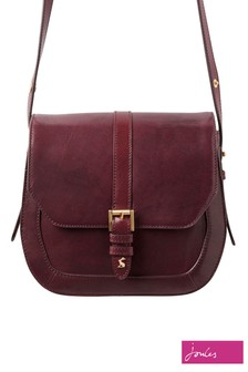 Joules Brown Saddle Leather Cross Body Bag