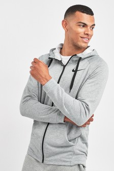 Nike Dry Grey Zip Through Training Hoody