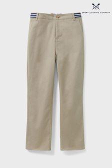 Crew Clothing Company Grey Slim Chino Trousers