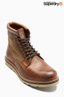 Superdry Tan Stirling Sleek Boot