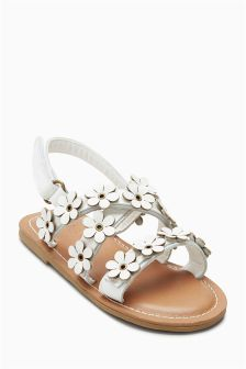 Leather Flower Sandals (Younger)