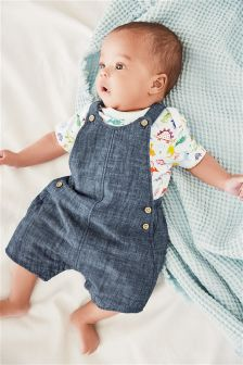 Chambray Dungarees (0mths-2yrs)