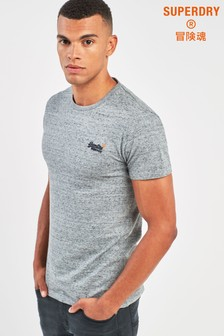 Superdry Grey Orange Label Vintage Embossed T-Shirt