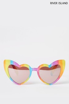 River Island Rainbow Heart Cat Eye Sunglasses