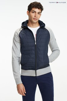 Tommy Hilfiger Grey Mixed Media Full Zip Hoody