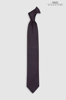 Signature Silk Hexagon Woven Tie
