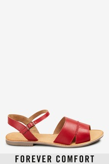 Forever Comfort® Leather Two Part Sandals
