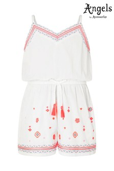 Angels By Accessorize Santorini Embroidered Playsuit