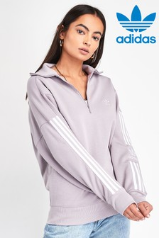 adidas Originals Lilac Lock Up 1/4 Zip Sweater