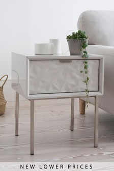 Mode Textured 1 Drawer Bedside Table