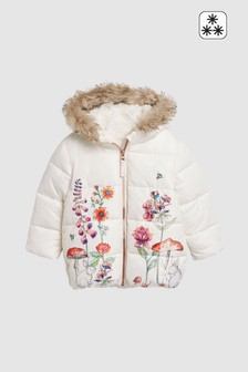 Border Print Padded Jacket (3mths-7yrs)