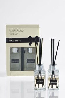 Set of 2 Lime Grove Collection Luxe 85ml Diffuser