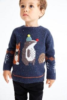 動物圖案套頭衫 (3個月至7歲)