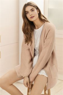 Metallic Edge Knit Cardigan