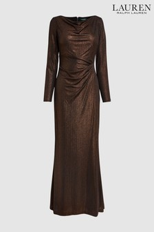 Lauren by Ralph Lauren Black Copper Dress