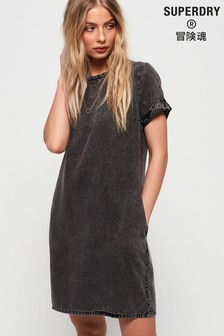 Superdry Black Acid Wash Dress