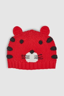 Tiger Knitted Hat (0mths-2yrs)