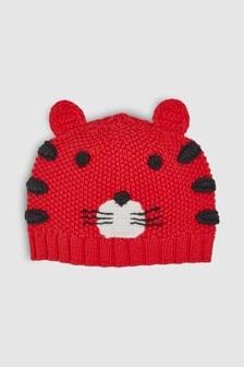 Вязаная шапочка с тигром (0 мес. - 2 лет)