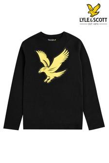 Lyle & Scott Black Long Sleeve Eagle Logo T-Shirt