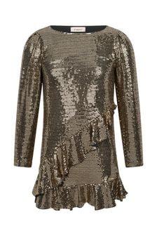 Girls Gold Sequin Dress