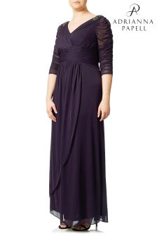 Adrianna Papell Plus Stretch Tulle Gown