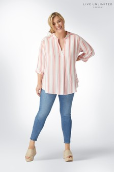 Live Unlimited Pink Stripe Chambray Shirt