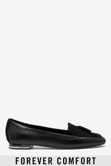 Forever Comfort® Leather Square Toe Loafers