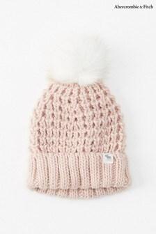 Abercrombie & Fitch Pink Pom Pom Hat