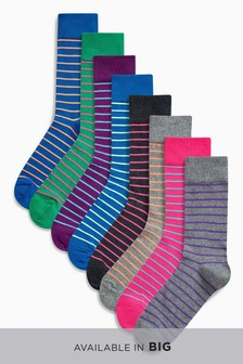 Stripe Socks Eight Pack