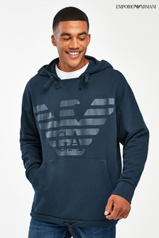 Emporio Armani Navy Oversized Crew Lounge Set