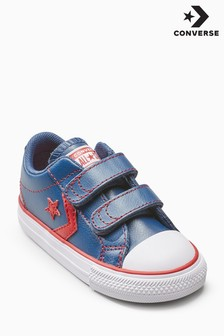 Converse Navy/Red Star Player Velcro