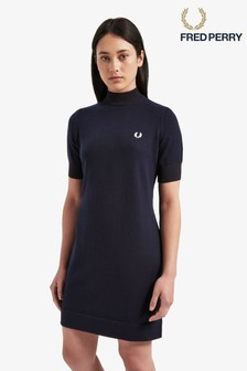 Fred Perry Navy Knitted Dress