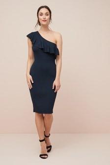Frill One Shoulder Dress