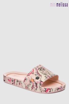 Mini Melissa Blush Unicorn Fantasy Beach Slide