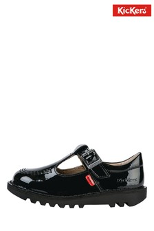 Kickers Juniors Patent Leather Kick-T Shoes