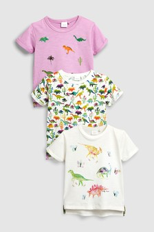 Dino Print T-Shirts Three Pack (3mths-6yrs)
