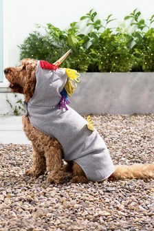 Hundekleid mit Einhorn-Motiv