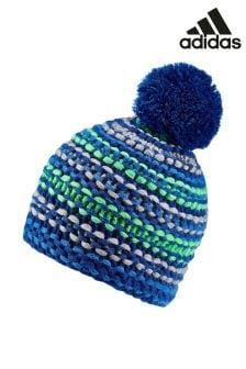 כובע גרב בסריגה עבה של adidas בכחול