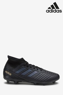 adidas Black Sark Script Predator Firm Ground Football Boots