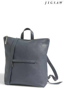 Jigsaw Grey Stevie Zip Backpack