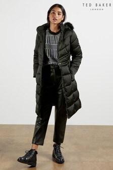 Ted Baker Samira Long Belted Padded Coat